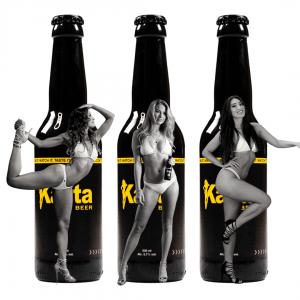 Kajita Beer bottles with models
